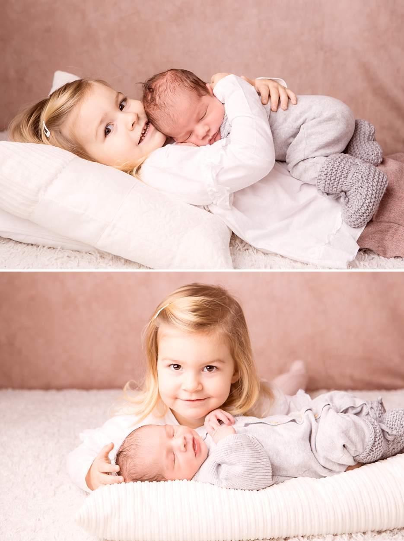 Familienfotoshooting und Neugeborenenfotografie