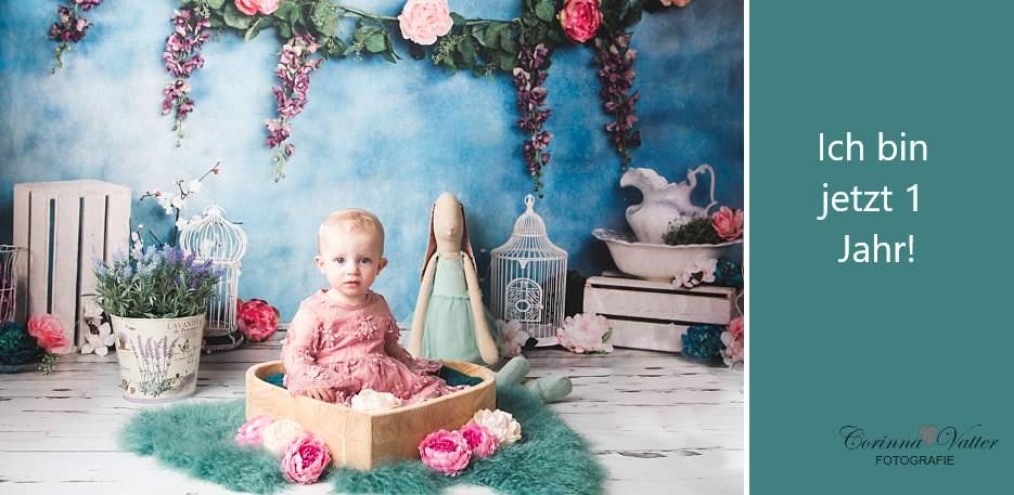 Babyfotografie zum 1. Geburtstag