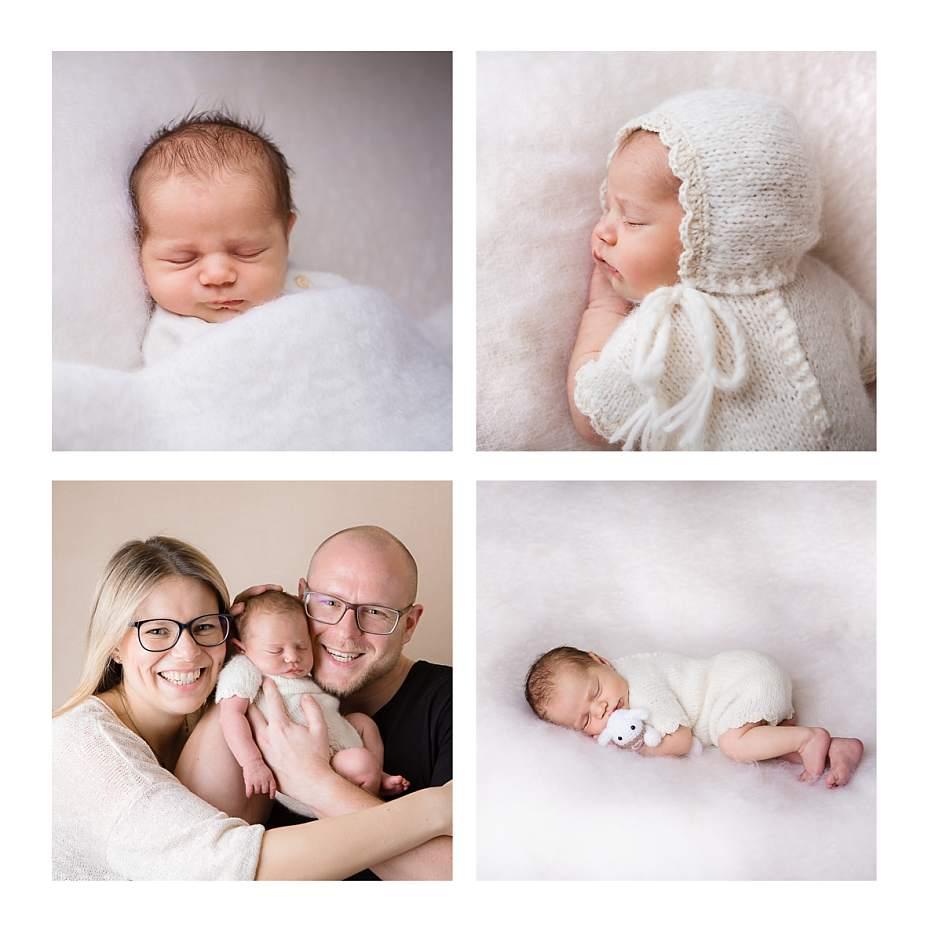 Babyfotos in weiss