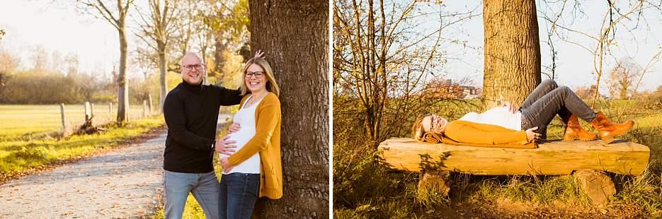Babybauchfotografie natürlich