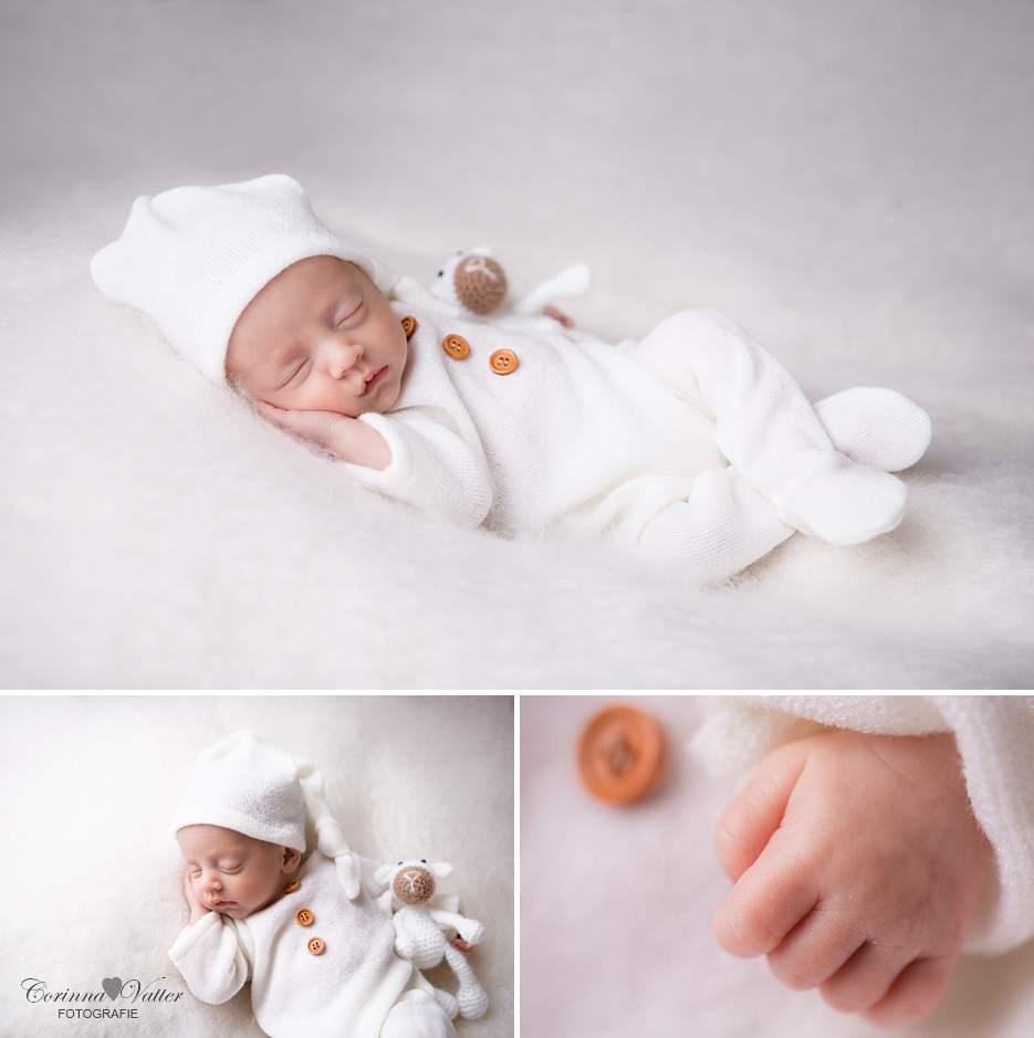 Neugeborenenshooting in weiss